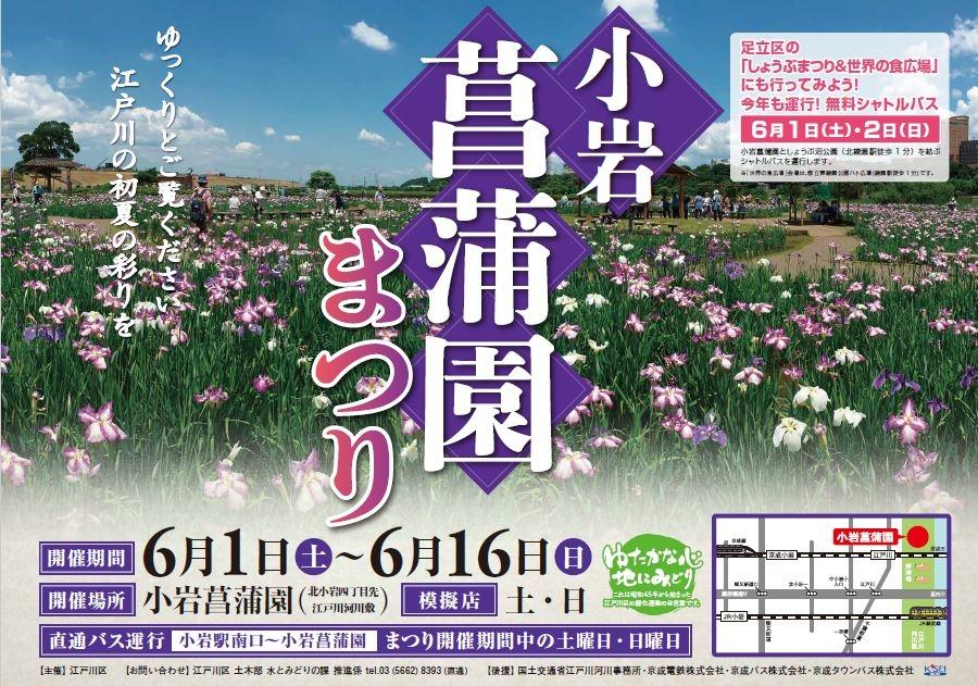 小岩菖蒲園ポスター
