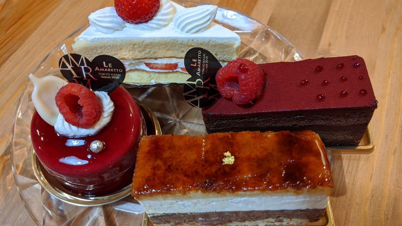 「ショートケーキ」「フェルコール「サンマルク」「カシスマロン」